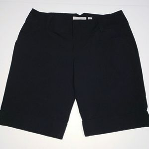 Guess Stretch Shorts Black Size 29 Cuffed Hem